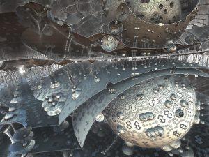 immagin caotica e artistica di sfere